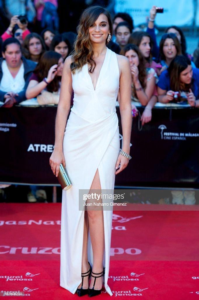 Spanish actress Norma Ruiz attends 'Gala Premio Retrospectiva-Malaga Hoy' during 16 Malaga Film Festival at Teatro Cervantes on April 26, 2013 in Malaga, Spain.
