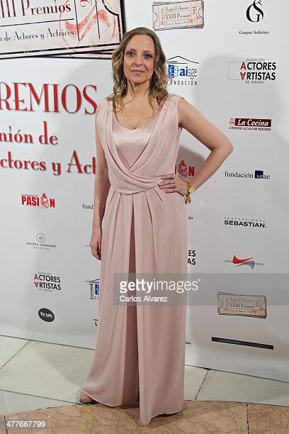 Spanish actress Nuria Gallardo attends the 23th Union de Actores awards at the Coliseum Theater on March 10 2014 in Madrid Spain