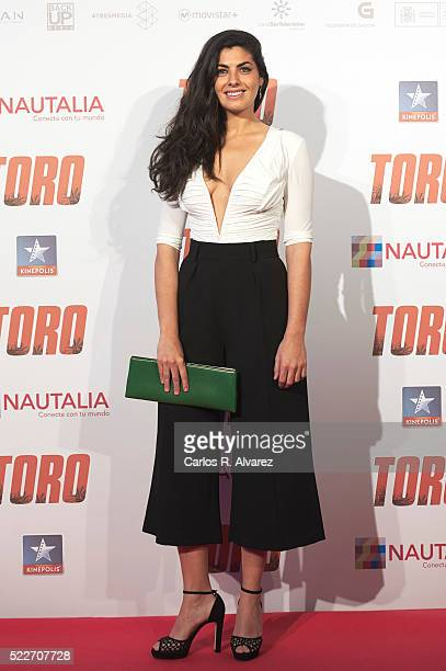 Spanish actress Nya de la Rubia attends Toro premiere at the Kinepolis cinema on April 20 2016 in Madrid Spain