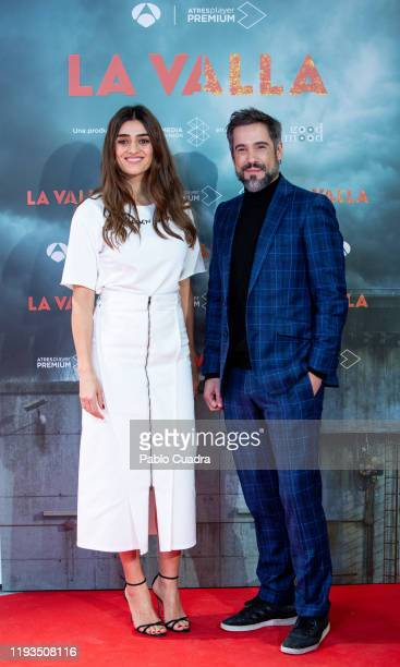 Spanish actress Olivia Molina and actor Unax Ugalde attend 'La Valla' photocall at La Paz Cinema on December 11, 2019 in Madrid, Spain.