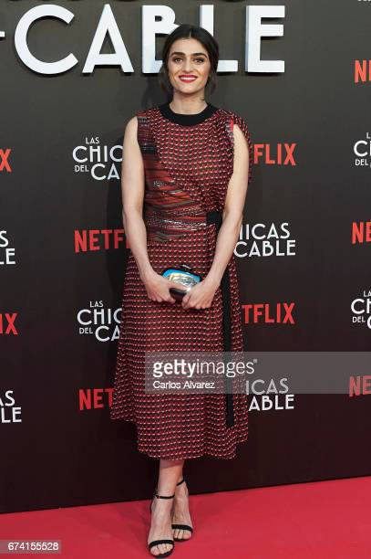 Spanish actress Olivia Molina attends 'Las Chicas Del Cable' premiere at the Callao cinema on April 27 2017 in Madrid Spain