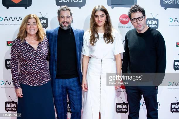Spanish actress Olivia Molina producer Daniel Ecija Atrsmedia fiction director Sonia Martinez and actor Unax Ugalde attend 'La Valla' photocall at La...