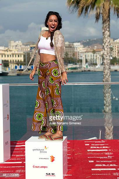 Spanish actress Oona Chaplin attends the 'Purgatorio' photocall during the 17th Malaga Film Festival 2014 Day 8 on March 28 2014 in Malaga Spain