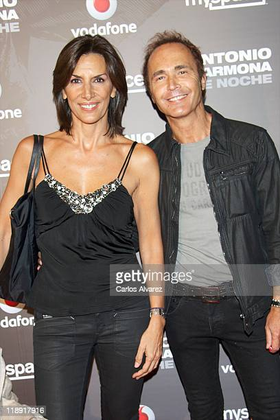 Spanish actress Pastora Vega and boyfriend actor Juan Ribo attend Antonio Carmona concert at the Joy Eslava Club on July 12, 2011 in Madrid, Spain.