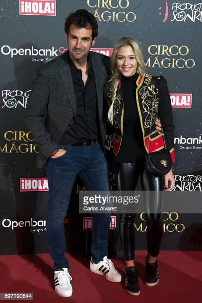 Spanish actress Patricia Montero and Alex Adrover attend 'Circo Magico' premiere on December 22 2017 in Madrid Spain