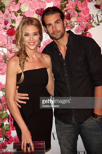 """Spanish actress Patricia Montero and Alex Adrover attend the presentation of the new fragance """"Rosa"""" at the Ritz Hotel on April 23, 2013 in Madrid,..."""