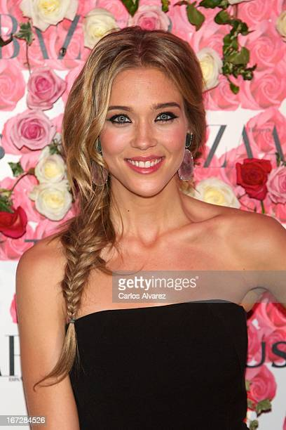 """Spanish actress Patricia Montero attends the presentation of the new fragance """"Rosa"""" at the Ritz Hotel on April 23, 2013 in Madrid, Spain."""