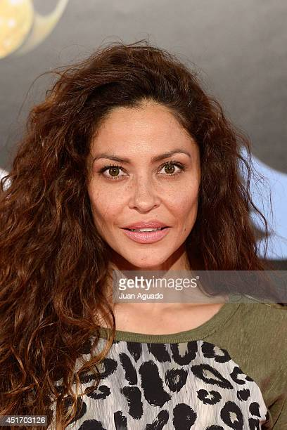 Spanish actress Patricia Perez attends the Shangay Pride Madrid Photocall 2014 at Vicente Calderon Stadium on July 4 2014 in Madrid Spain