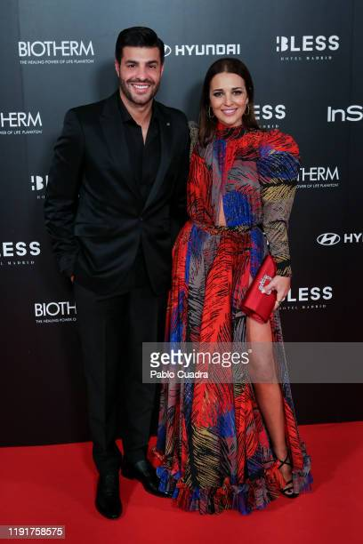 Spanish actress Paula Echevarria and Miguel Torres attend the InStyle 15th anniversary party at Bless Hotel on December 03 2019 in Madrid Spain