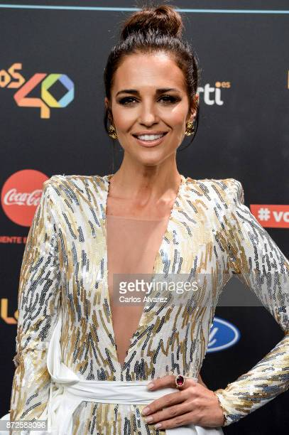 Spanish actress Paula Echevarria attends 'Los 40 Music Awards' photocall at WiZink Center on November 10 2017 in Madrid Spain