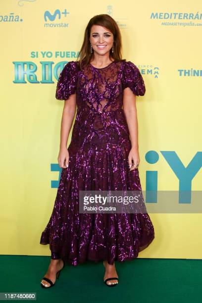Spanish actress Paula Echevarria attends Si Yo Fuera Rico premiere at Capitol Cinema on November 13 2019 in Madrid Spain