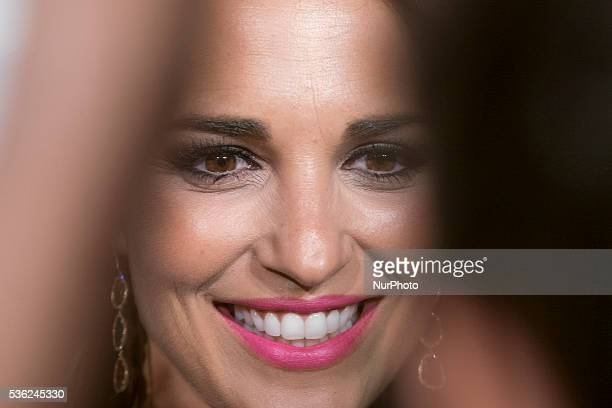 Spanish actress Paula Echevarria attends Tacha Beauty and Javier De Benito Institute party at the Santa Coloma Palace on May 31 2016 in Madrid Spain