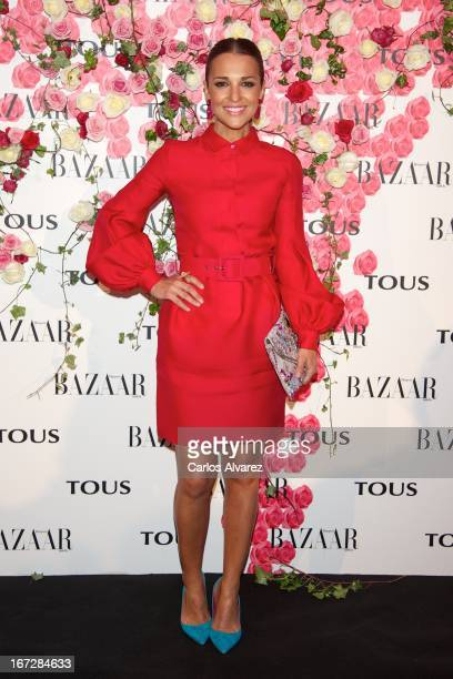 """Spanish actress Paula Echevarria attends the presentation of the new fragance """"Rosa"""" at the Ritz Hotel on April 23, 2013 in Madrid, Spain."""