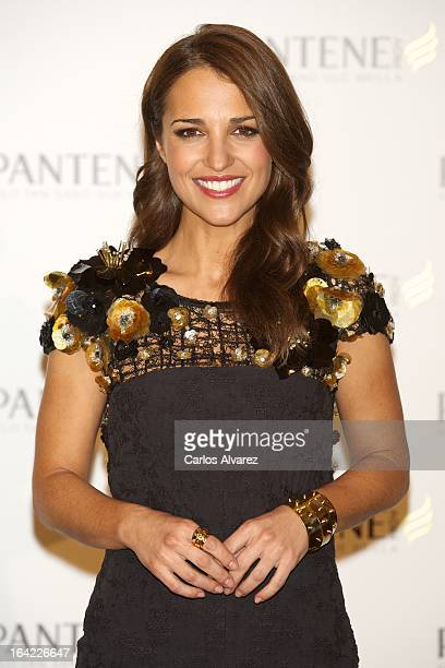 Spanish actress Paula Echevarria presents a new Pantene project at the Intercontinental Hotel on March 21, 2013 in Madrid, Spain.