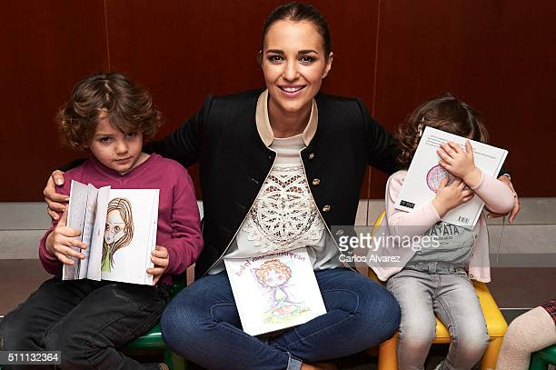 Spanish actress Paula Echevarria presents 'Isabel Alas de Mariposa' tale by Cris against cancer Foundation at the La Paz Hospital on February 18 2016...