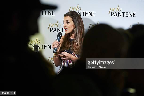 Spanish actress Paula Echevarria presents 'Mi PeloPantene' on February 11 2016 in Madrid Spain