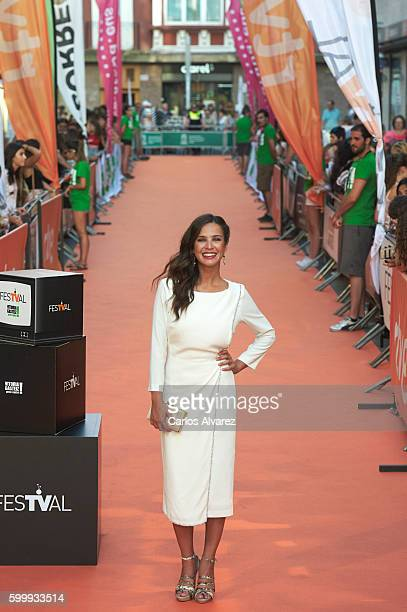 Spanish actress Paula Prendes attends Victor Ros premiere at Principal Theater during FesTVal 2016 Day 3 on September 7 2016 in VitoriaGasteiz Spain