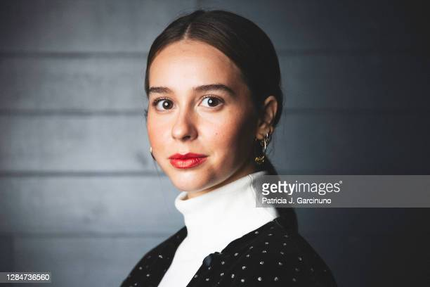 Spanish actress Paula Usero poses during a portrait session at Cineteca before the presentation of 'Luimelia' ATRESplayer Premium serie at LGTBIQ+...