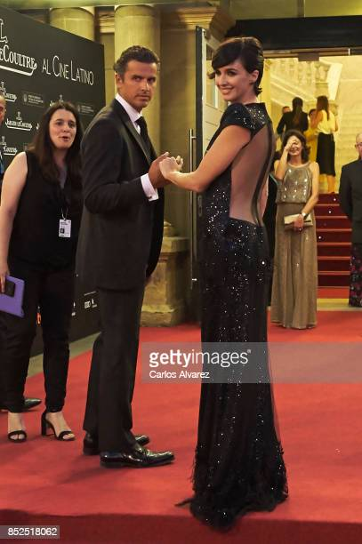 Spanish actress Paz Vega and husband Orson Salazar attend the JaegerLeCoultre 'Latin Cinema Award' at the Victoria Eugenia Teather on September 23...