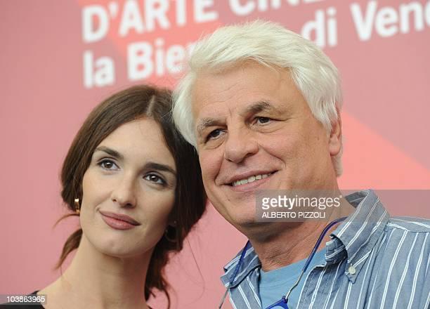 Spanish actress Paz Vega and Italian director Michele Placido pose during the photocall of Vallanzasca gli angeli del male at the 67th Venice Film...