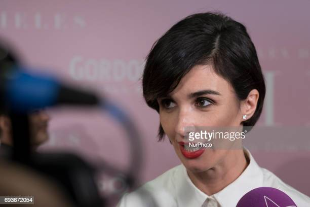 Spanish actress Paz Vega arrives at the premiere of the film quotPielesquot directed by Eduardo Casanova at the Capitol cinema in Madrid Spain