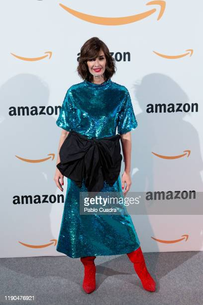 Spanish actress Paz Vega attends Amazon Pop-Up opening at Callao City Lights cinema on November 27, 2019 in Madrid, Spain.