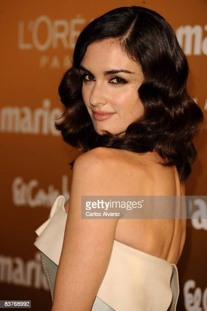 Spanish actress Paz Vega attends Marie Claire Prix de la Mode 2008 awards at French Embassy on November 20 2008 in Madrid Spain