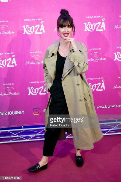 Spanish actress Paz Vega attends the Cirque Du Soleil 'Kooza' premiere on October 29 2019 in Madrid Spain