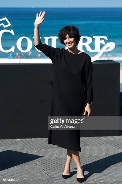 Spanish actress Paz Vega attends the JaegerLeCoultre 'Latin Cinema Award' photocall at the Kursaal Palace on September 23 2017 in San Sebastian Spain
