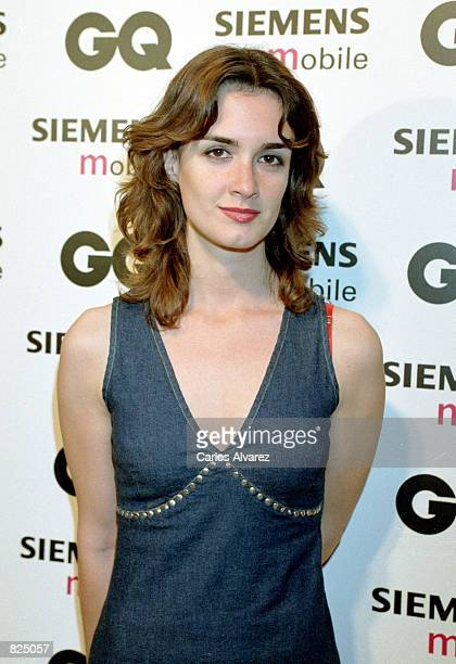 Spanish actress Paz Vega attends the Spring/Summer 2001 GQ fashion show party May 7 2001 in Madrid Spain