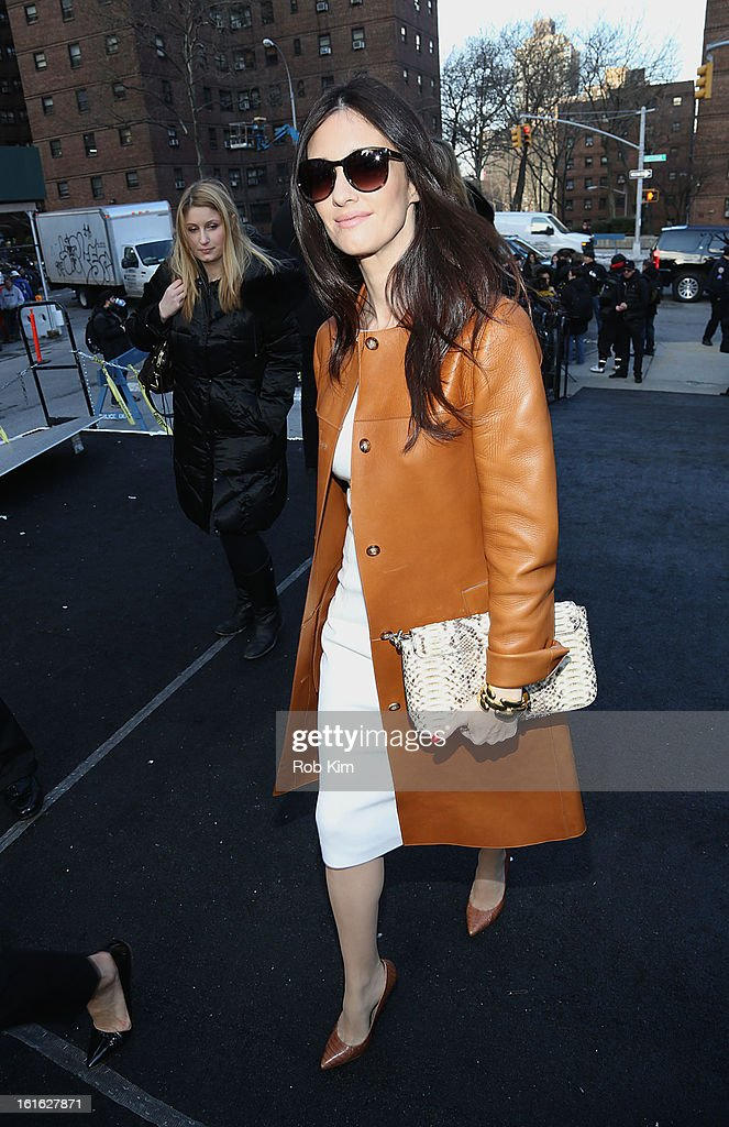 Spanish actress Paz Vega is seen during Fall 2013 Mercedes-Benz Fashion Week at Lincoln Center for the Performing Arts on February 13, 2013 in New York City.