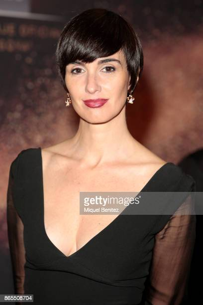 Spanish actress Paz Vega is wearing a Dsquared dress during the 25th anniversary of Sensilis on October 23 2017 in Barcelona Spain