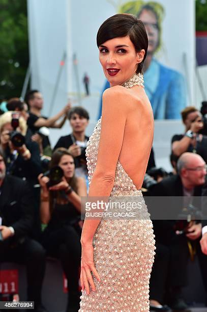 Spanish actress Paz Vega member of the jury 'Orizzonti' arrives for the screening of the movie 'Everest' presented out of competition for the opening...