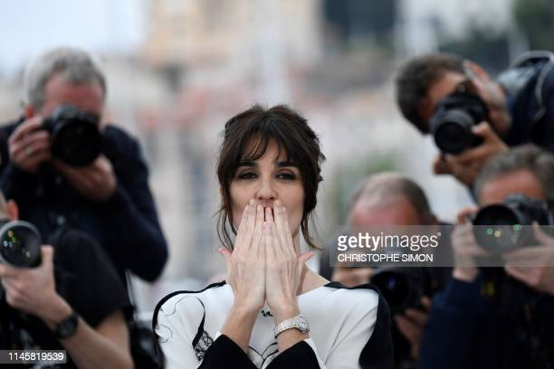 """Spanish actress Paz Vega poses during a photocall for """"Rendez-vous with Sylvester Stallone and Rambo V : Last Blood"""" at the 72nd edition of the..."""