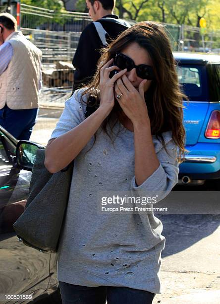 Spanish actress Penelope Cruz and her mother Encarna Sanchez sighting on May 25 2010 in Madrid Spain