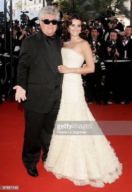 Spanish actress Penelope Cruz and spanish director Pedro Almodovar attend the 'Volver' premiere at the Palais des Festivals during the 59th...