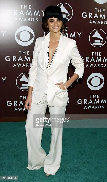 Spanish actress Penelope Cruz arrives to the 47th Annual Grammy Awards at the Staples Center on February 13 2005 in Los Angeles California