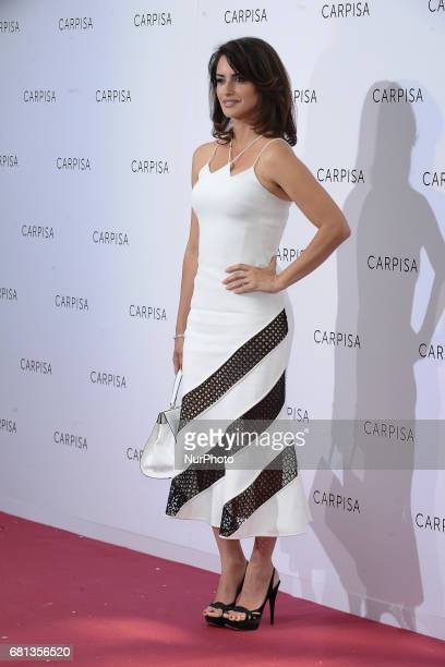 Spanish actress Penelope Cruz attends Carpisa photocall presentation at the Italian Embassy on May 9 2017 in Madrid Spain