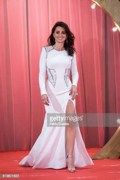 Spanish actress Penelope Cruz attends Goya Cinema Awards 2018 at Madrid Marriott Auditorium on February 3 2018 in Madrid Spain
