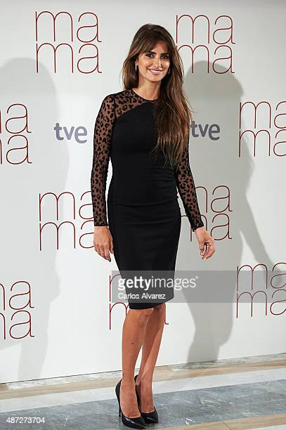 Spanish actress Penelope Cruz attends Ma ma photocall at the Villamagna Hotel on September 8 2015 in Madrid Spain