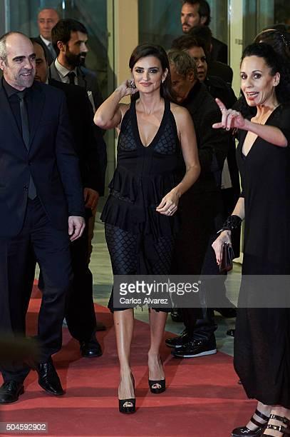 Spanish actress Penelope Cruz attends the Jose Maria Forque Awards 2015 at the Palacio Municipal de Congresos on January 11, 2016 in Madrid, Spain.