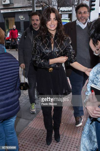 Spanish actress Penelope Cruz is seen on March 6 2018 in Madrid Spain