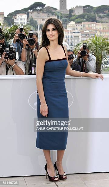 Spanish actress Penelope Cruz poses during a photocall for US director Woody Allen's film 'Vicky Cristina Barcelona' at the 61st Cannes International...