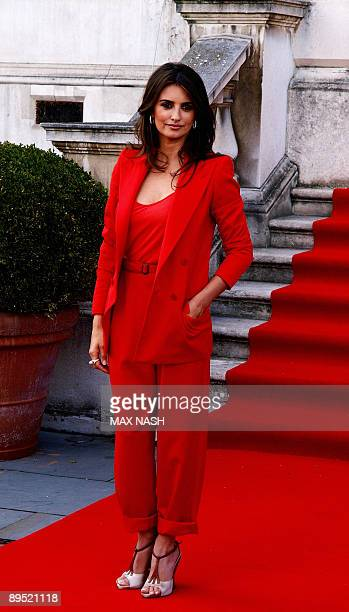 Spanish actress Penelope Cruz poses for a photograph as she arrives for the British Premiere of her latest film ' Broken Embraces ' at Somerset House...