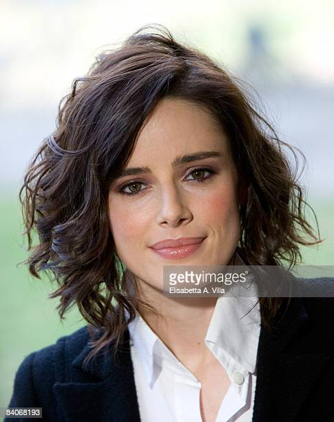 Spanish actress Pilar Lopez de Ayala attends 'Baby Love' photocall at Villa Borghese on December 17 2008 in Rome Italy