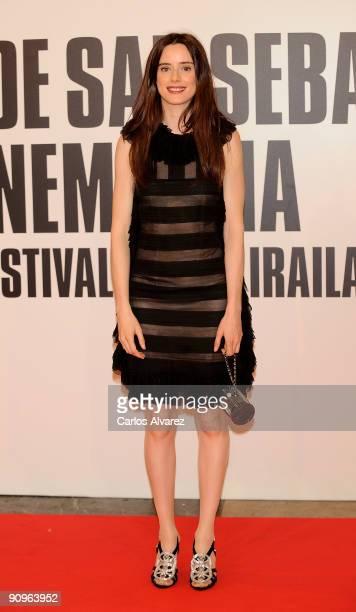 Spanish actress Pilar Lopez de Ayala attends the 'Chloe' premiere at Kursaal Palace during the 57th San Sebastian International Film Festival on...