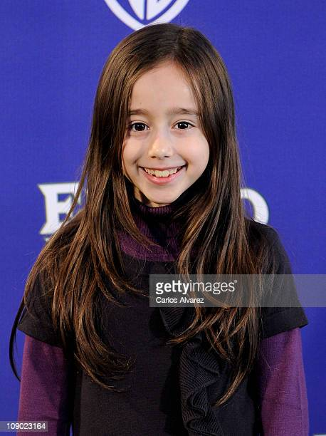 Spanish actress Priscila Delgado attends El Oso Yogui premiere at Kinepolis Cinema on February 12 2011 in Madrid Spain