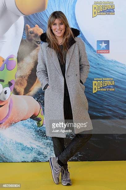 Spanish actress Raquel Merono attends the 'Bob Esponja' Premiere at Kinepolis Cinema on January 31 2015 in Madrid Spain