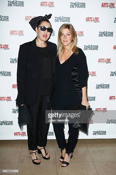 Spanish actress Rossy de Palma and french writer Amanda Sthers attend 'Le Mur' Theater Play Premiere on June 5 2014 in Paris France