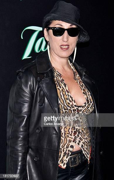 Spanish actress Rossy de Palma attends Aloe Blacc concert photocall at Joy Eslava Club on November 7 2011 in Madrid Spain